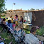 JoAnn Sanchez teaching in the SCNM herb garden