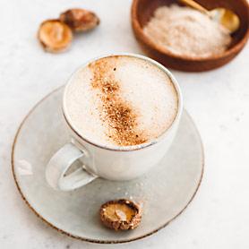 mushroom latte with shiitake